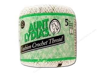 Aunt Lydia's Fashion Crochet Metallics Size 5 White/Silver