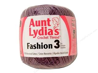 Aunt Lydia's Fashion Crochet Thread Size 3 Plum