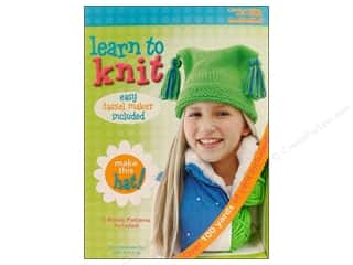 Leisure Arts Kit Learn To Knit Hat