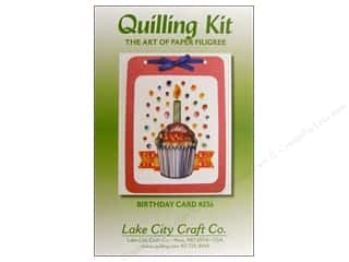 Lake City Crafts Quilling Kit Birthday Cupcake