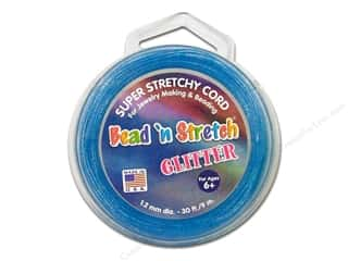 Toner Bead &#39;N Stretch Cord 1.2mm Gltr Blue 30ft