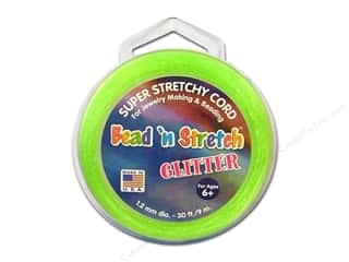 Toner Bead &#39;N Stretch Cord 1.2mm Gltr Lime 30ft