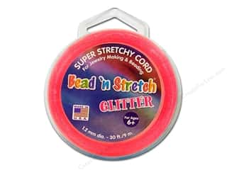 Toner Bead &#39;N Stretch Cord 1.2mm Gltr Pink 30ft