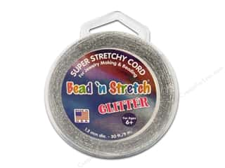 Toner Bead &#39;N Stretch Cord 1.2mm Gltr Silver 30ft
