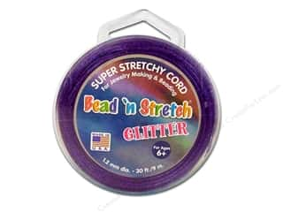 Toner Bead &#39;N Stretch Cord 1.2mm Gltr Purple 30ft