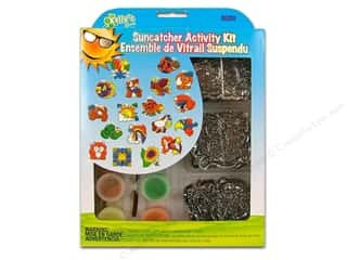 Animals Kids Crafts: Kelly's Suncatcher Group Pack Animals 18pc