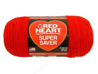 Red Heart Super Saver Jumbo Yarn #319 Cherry 14 oz.
