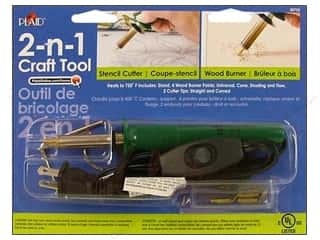 Cutters Wood Cutter: Plaid Tools 2-N-1 Craft Wood Burner/Stencil Cutter