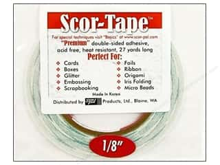 Roll Tape: Scor-Pal Scor-Tape Double Sided Adhesive 1/8 in. x 27 yd.