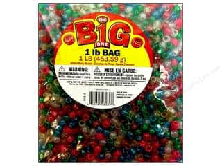 Beading & Jewelry Making Supplies: Darice Bead Pony 9mm Glitter Astd 1lb