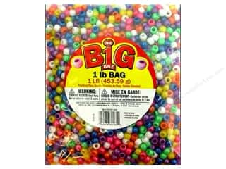 Plastics Beading & Jewelry Making Supplies: Darice Beads Pony 9mm Pearlized Assorted 1lb