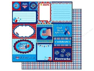 Everything You Love Sale Scrapbooking: Best Creation Paper 12x12 Love America July Tags (25 sheets)