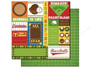 Best Creation Paper 12x12 Baseball Team Tags (25 sheets)