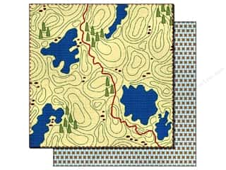 Best of 2012 Bo Bunny Paper & Sticker Collection Pack: Best Creation 12 x 12 in. Paper Gone Camping Trail Map (25 sheets)