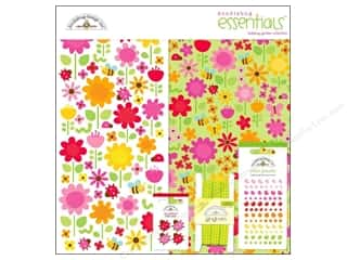 sticker: Doodlebug Essentials Paper Ladybug Garden