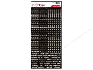 Cosmo Cricket Sticker Tiny Type Numbers Black