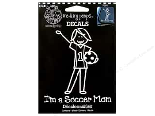 "Rub-Ons 5"": Plaid Peeps Family Decals I'm A Soccer Mom Large"
