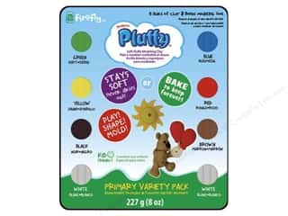 Sculpey: Sculpey Pluffy Clay 1oz Multi Primary 8pc