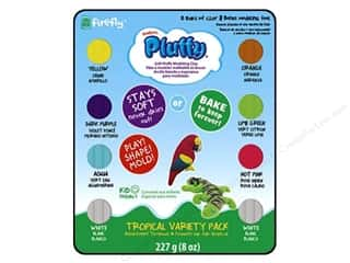 Sculpey: Sculpey Pluffy Clay 1oz Multi Tropical 8pc