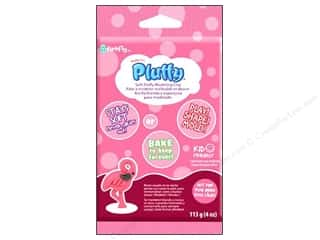 Sculpey Pluffy Clay 4oz Hot Pink