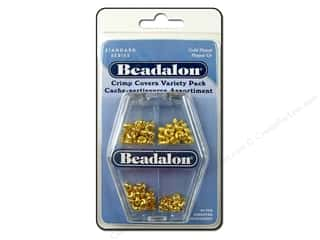 Beadalon Crimp Covers Astd VP Gold Plated 80pc
