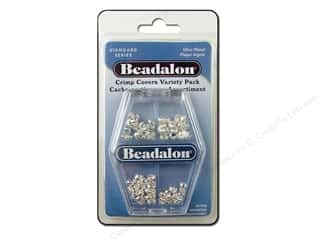 Beadalon Crimp Covers Astd VP Silver Plated 80pc