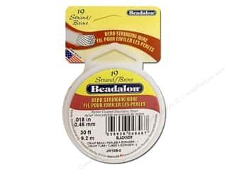 Beadalon Bead Wire 19 Strand .018&quot; Black 30&#39;