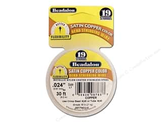 Clearance Blumenthal Favorite Findings: Beadalon Bead Wire 19 Strand .024 in. Satin Copper 30ft