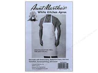Aunt Martha&#39;s Aprons Twill PolyCotton 28x35&quot; White