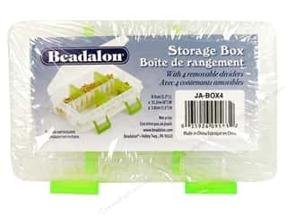 Organizer Containers: Beadalon Organizer Bead Box 6x 3.5x1.5&quot; 4 divider
