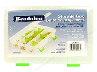 Organizer Containers: Beadalon Organizer Bead Box 8&quot;x5&quot;x1.5&quot; 9 divider