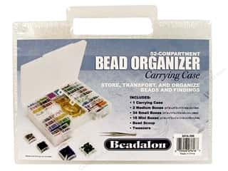 seed beads: Beadalon Bead Organizer with Scoop/Tweezer 52 Boxes