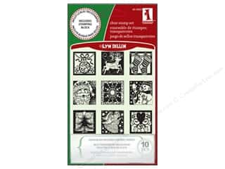 stamp block: Inkadinkado Clr Stamp Inchies Holiday Spirit