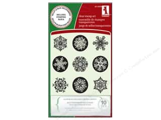 stamp block: Inkadinkado Clr Stamp Inchies Snowflakes