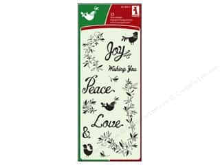 Inkadinkado InkadinkaClings Clear Stamp Folk Joy Peace Love