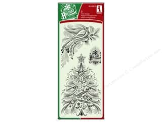 bird stamp: Inkadinkado Clear Stamp Calligraphy Holiday Favorite