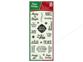 Inkadinkado Clear Stamp Folk Holiday Tag Expressions