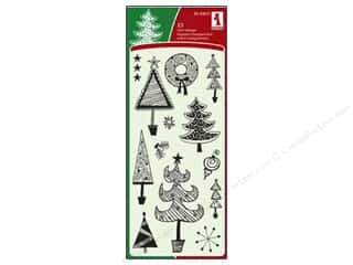 Inkadinkado Clear Stamp Festive Holiday Doodles