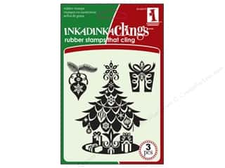 Inkadinkado Stamp Inkadinkaclings Christmas Tree