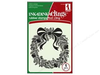 Inkadinkado InkadinkaClings Rubber Stamp Folk Wreath