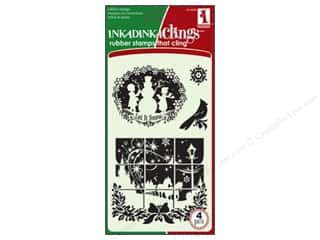 Winter Wonderland: Inkadinkado InkadinkaClings Stamp Winter Wonderland
