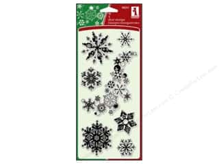 2013 Crafties - Best Adhesive: Inkadinkado InkadinkaClings Clear Stamp Snowflakes A Plenty