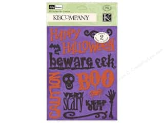 Batting New: K&Company Stickers Kelli Panacci Glitter Halloween