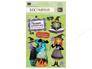 K & Company Dimensional Stickers: K&Company Stickers Kelli Panacci Halloween Witch Medley