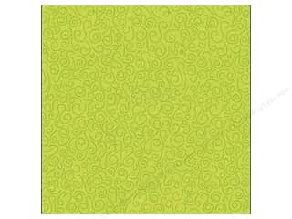Flowers K&Company 12 x 12 in. Paper: K&Company 12 x 12 in. Paper Ghostly Greetings Collection Glitter Green Swirl (12 sheets)