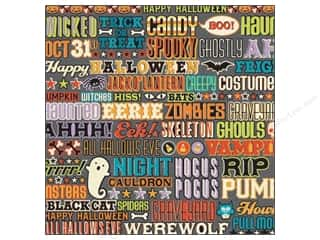 K&amp;Co Paper 12x12 Ghostly Greetings Spooky Word (25 sheets)