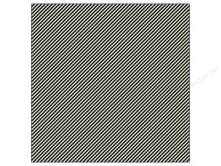 K&amp;Co Paper 12x12 Ghostly Greetings Blk Wht Stripe (25 sheets)