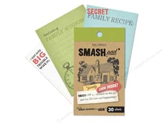 Note Cards paper dimensions: K&Company Smash Pad Family