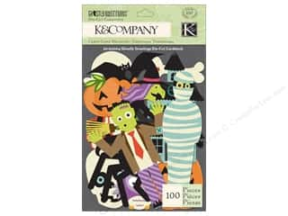 K&Co Die Cut Cardstock Ghostly Greetings