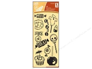 Halloween Clearance: Inkadinkado InkadinkaClings Clear Stamp Halloween Treats